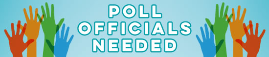 poll officials needed