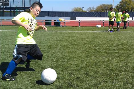 Soccer kids at Rose Park