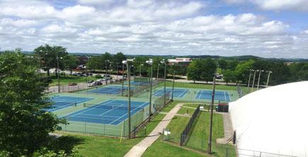 Hadley outdoor tennis courts