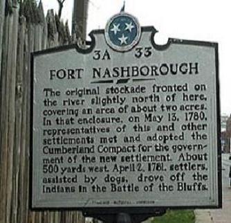 Fort Nashborough historic marker