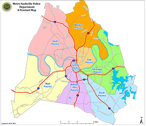 Davidson County Police Precincts Map