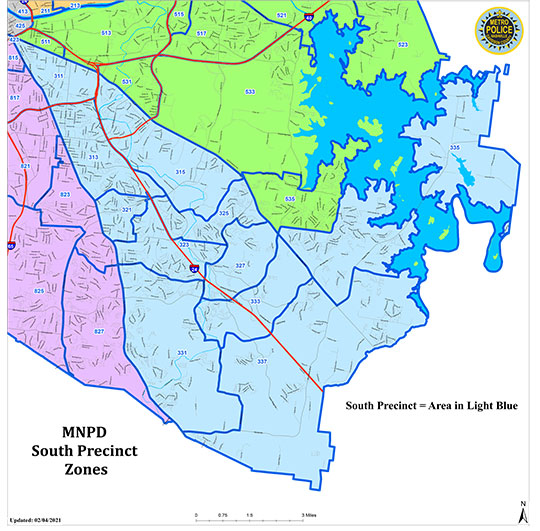 South Precinct Coverage Map