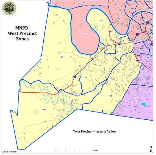West Precinct Coverage Map