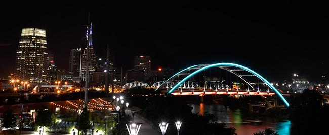 new LED lighting on KVB bridge